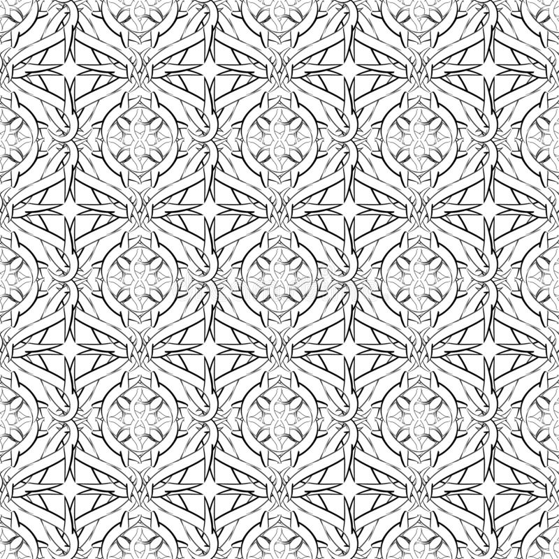 Free Intricate Celtic Vector Seamless Pattern. Monochrome Ornamental Intricacy Background. Branches With Thorns, Knots Royalty Free Stock Photography - 156852467