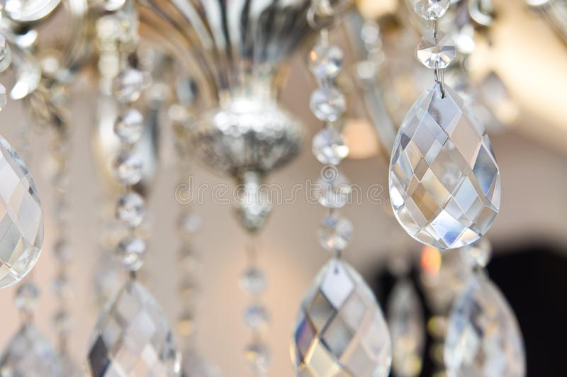 Intricate chandelier in an optician shop. royalty free stock photo