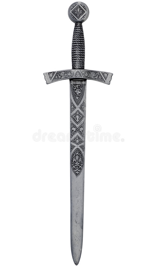 Intricate dagger with path stock photography