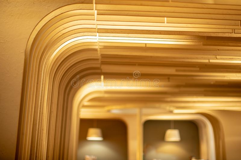 Intricate details of the room wall Stylishly decorated.soft focus.  royalty free stock image