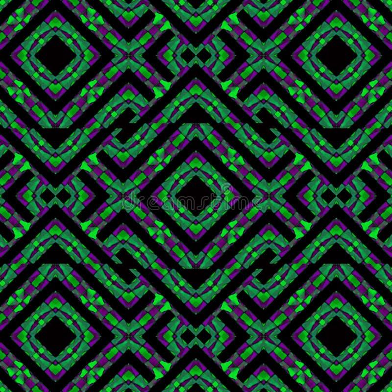 Intricate Geometric Abstract Modern Pattern stock illustration