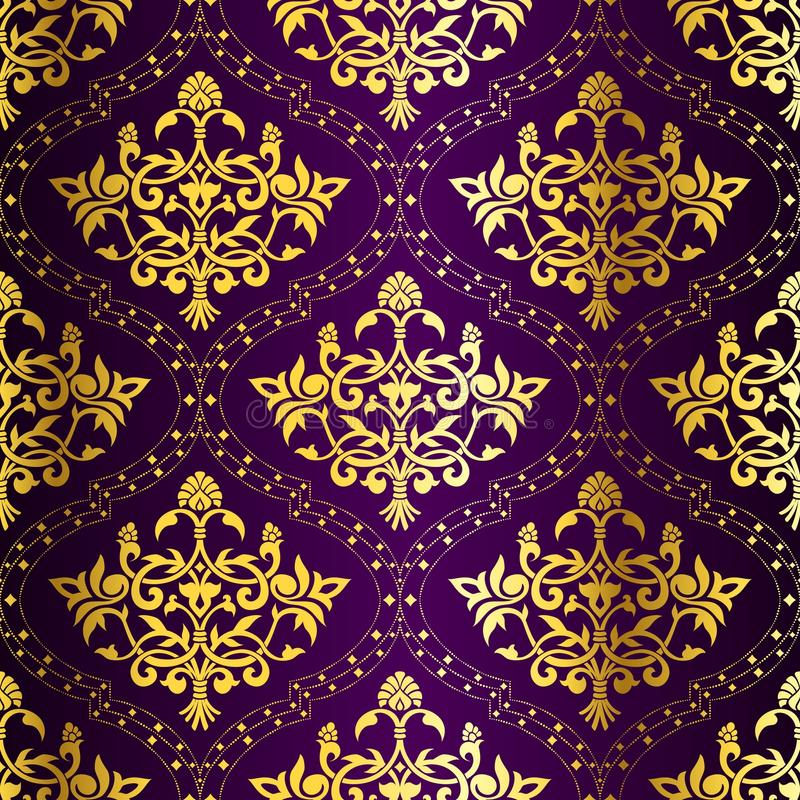 Download Intricate Gold-on-Purple Seamless Sari Pattern Stock Images - Image: 12703384
