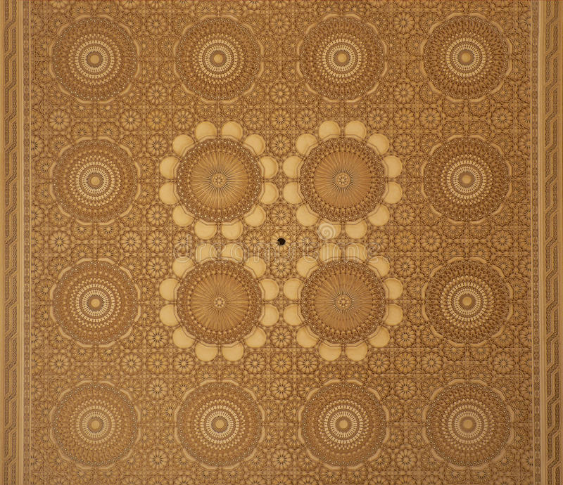 Moroccan Arabesque Design Ceiling royalty free stock photography