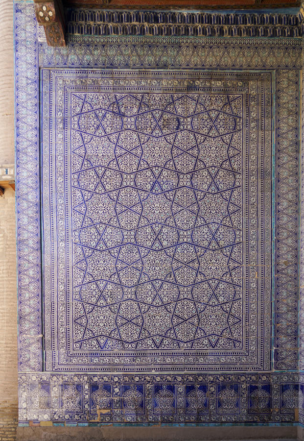 Intricate tilework of Khiva royalty free stock photos