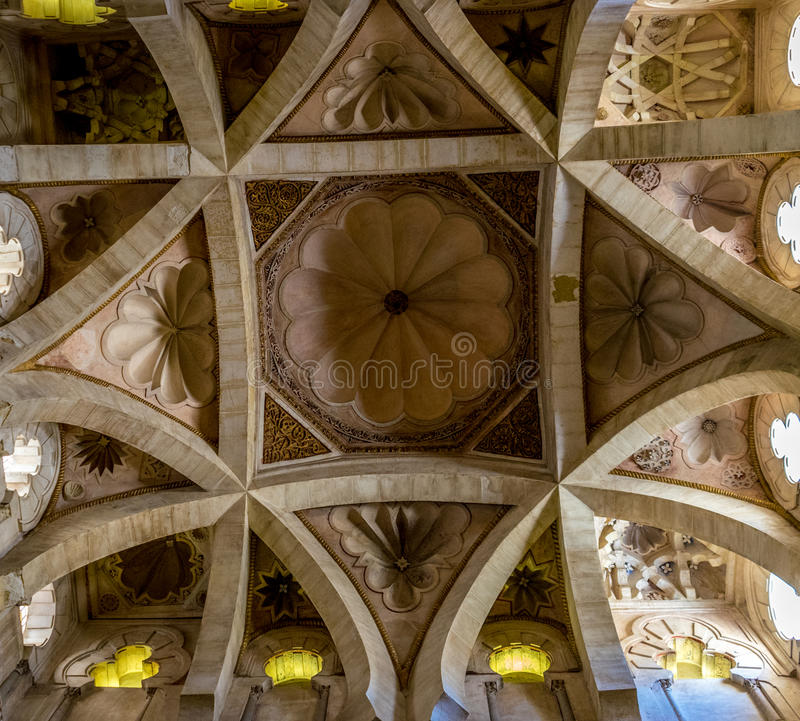 Intricate Design Pattern On The Roof Of The Gothic Hall