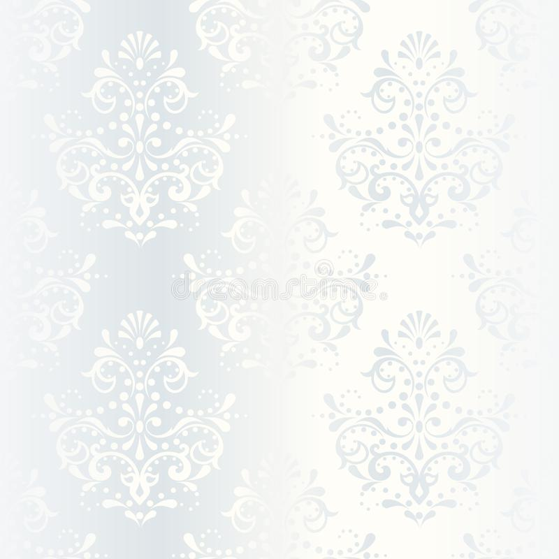 Intricate white satin wedding pattern. Elegant white seamless pattern, prefect for wedding designs. The tiles can be combined seamlessly. Graphics are grouped vector illustration