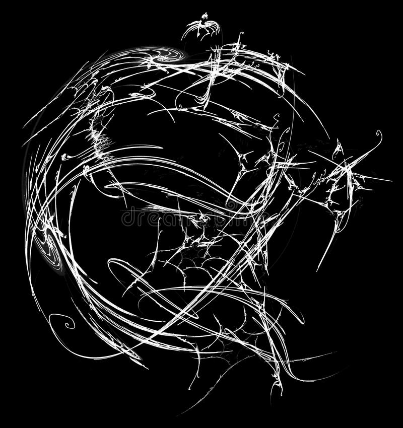 Intricate White Sphere Abstract vector illustration