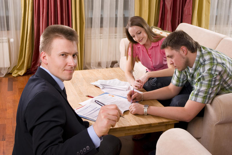 Intrigued Official agent stock image