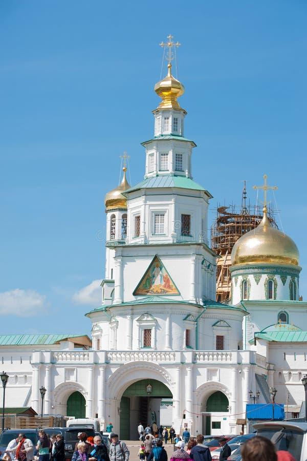 Introduca il tempio di nuovo monastero di Gerusalemme di resurrezione fotografie stock libere da diritti