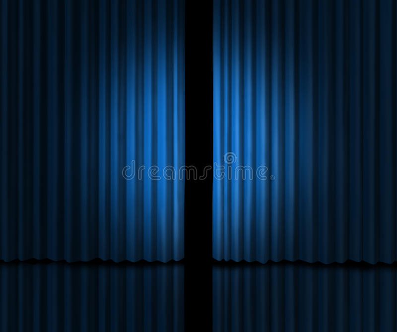 Download Introducing On A Blue Curtain Stage Stock Illustration
