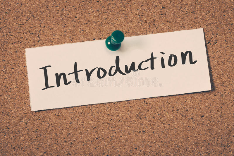 introduction image stock