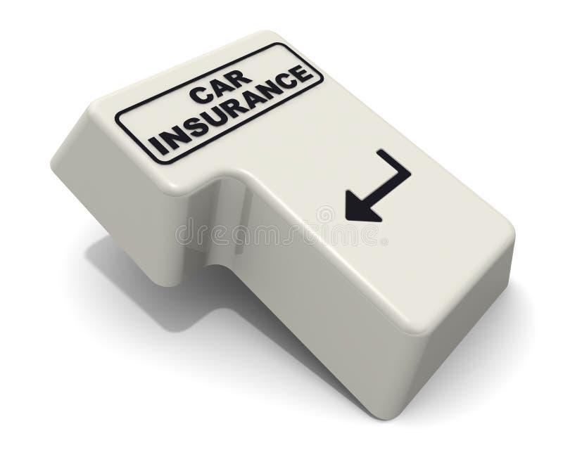 Introduisez la clé avec le mot d'ASSURANCE AUTO illustration stock