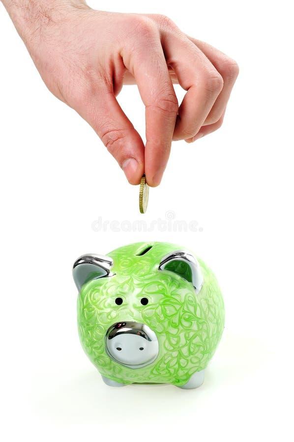 Introduza a moeda imagens de stock
