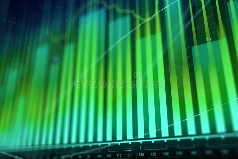 Introduza no mercado o conceito da troca do crescimento, da finança e de moeda ilustração royalty free
