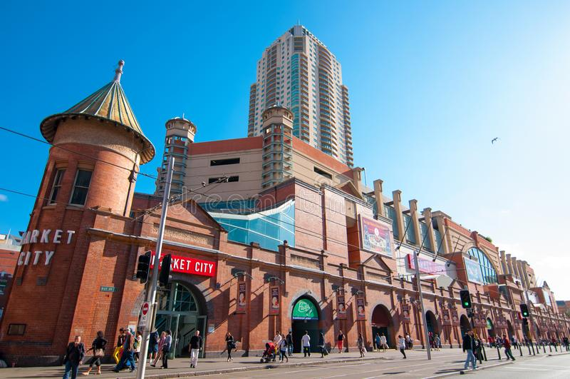 Introduza no mercado o shopping da cidade no coração do bairro chinês do ` s de Sydney no dia bonito da luz do sol fotografia de stock