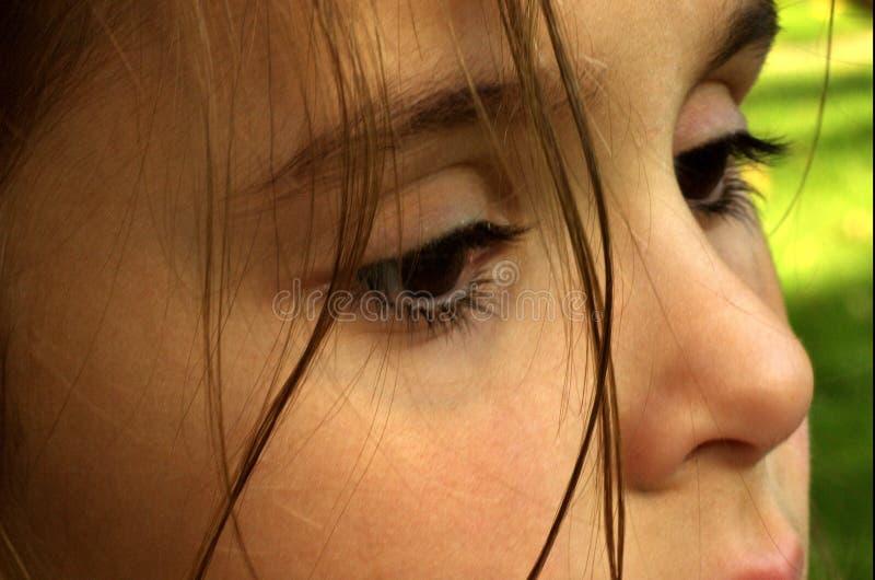 Introspektive Augen stockbilder