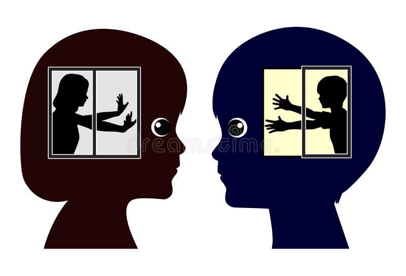 Introvert en Extravert Jonge geitjes vector illustratie
