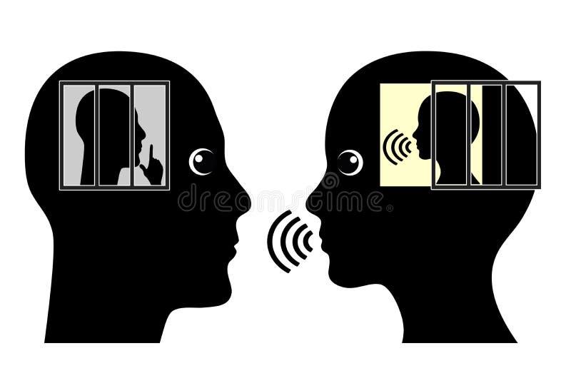 Introvertido e extrovertido ilustração do vetor