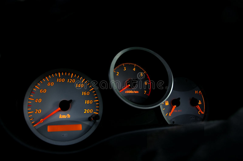 Intruments 01 dell'automobile immagini stock