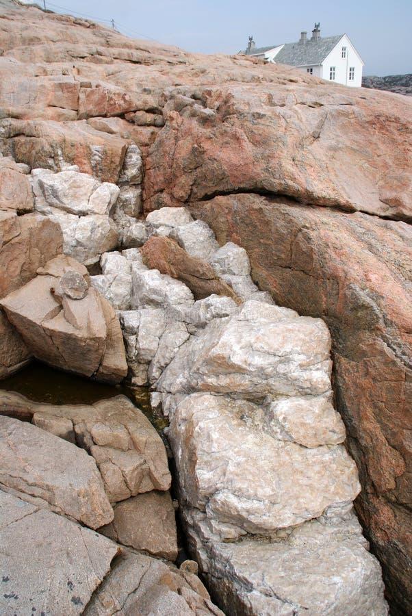 Intrusión del cuarzo en granito imagen de archivo libre de regalías