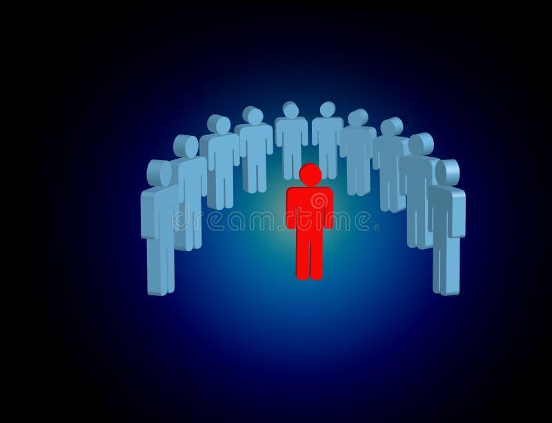 Intruso em um grupo de povos da rede - engodo do negócio e do contato imagem de stock royalty free