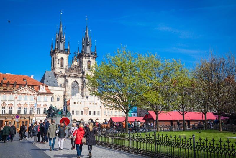 Intryck av Prague arkivfoto