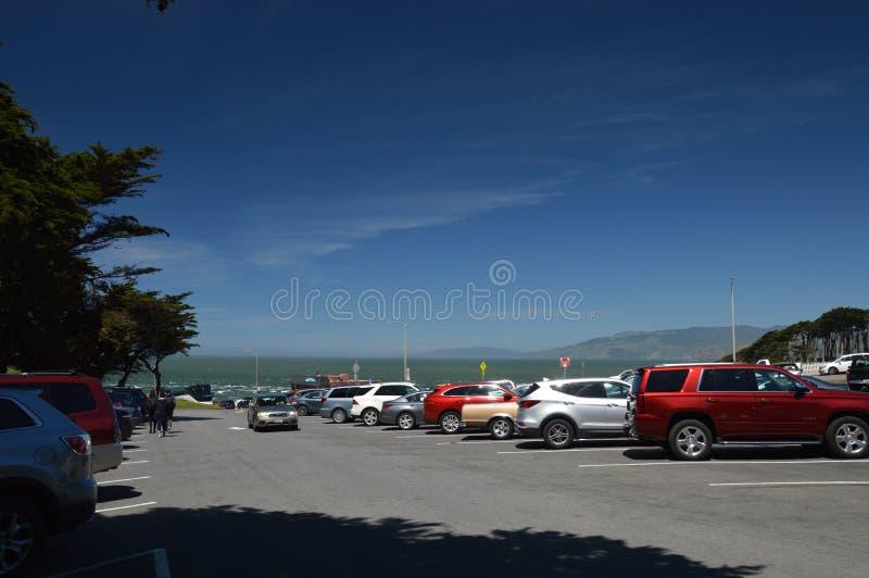 Intryck från landslutet i Golden Gaterekreationsområde i San Francisco från April 27, 2017, Kalifornien USA arkivbild