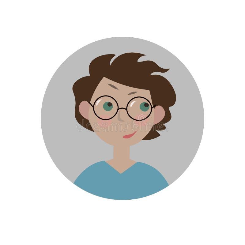 Intrygujący emoticon Zmieszany emoji zdumiony smiley Dylemata wyrażenie royalty ilustracja