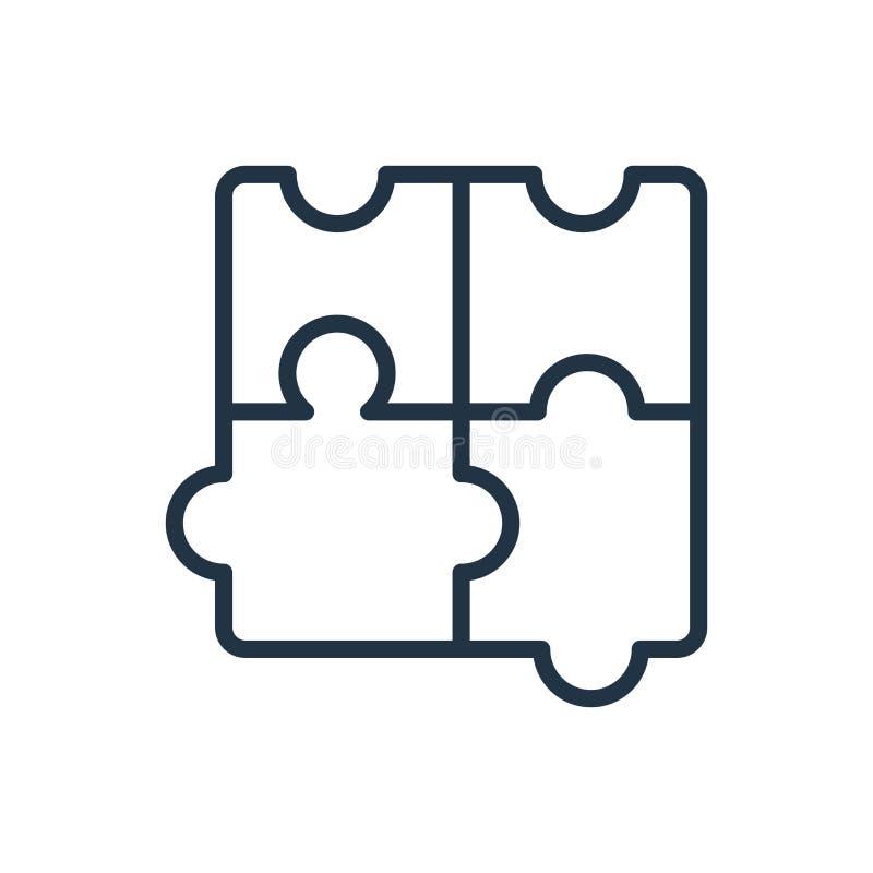 Intryguje ikona wektor odizolowywającego na białym tle, łamigłówka znak ilustracja wektor