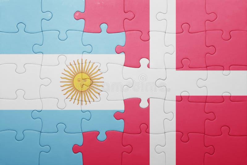 intryguje z flaga państowowa Argentina i Denmark ilustracji