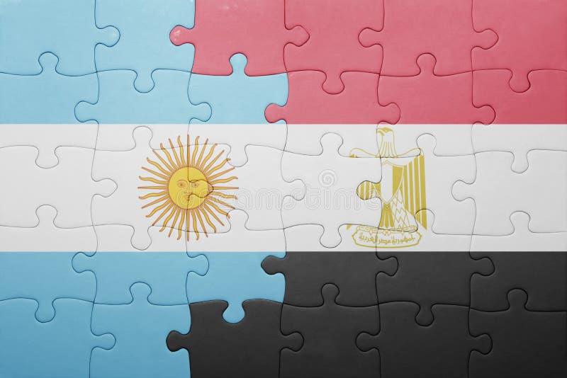 intryguje z flaga państowowa Argentina i Egypt ilustracji