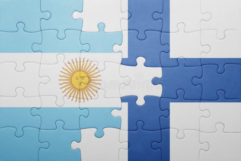 intryguje z flaga państowowa Argentina i Finland ilustracji
