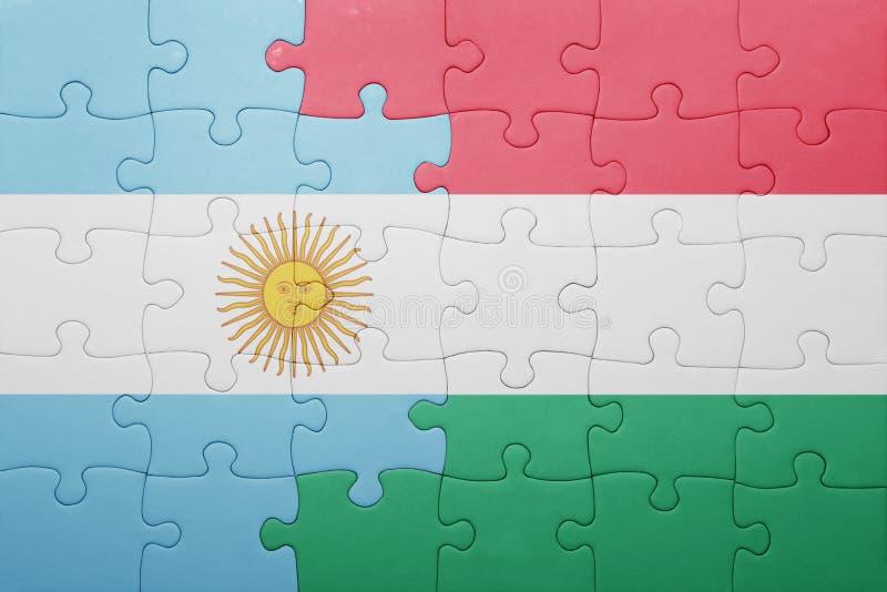 intryguje z flaga państowowa Argentina i Hungary ilustracja wektor