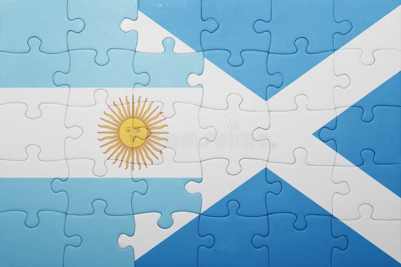 intryguje z flaga państowowa Argentina i Scotland ilustracji