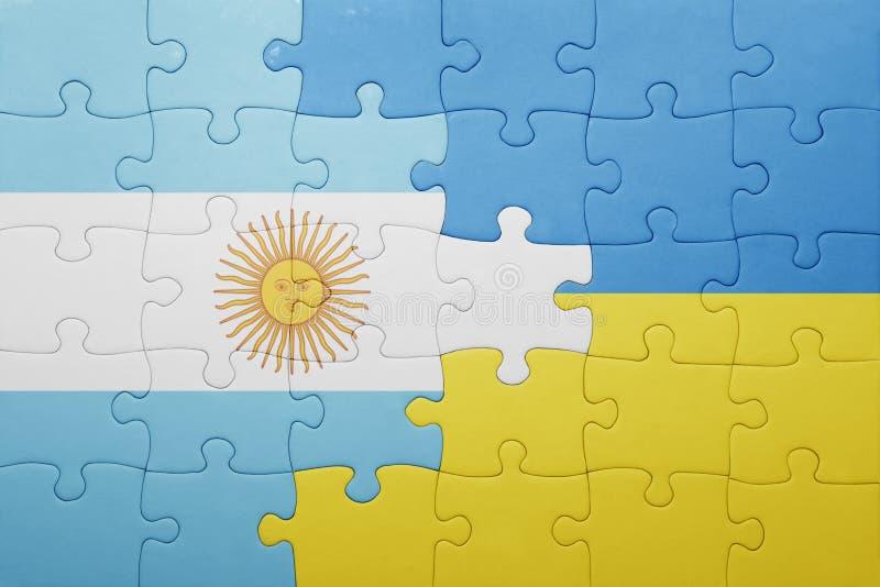 intryguje z flaga państowowa Ukraine i Argentina ilustracji