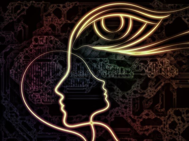 intuïtie royalty-vrije illustratie