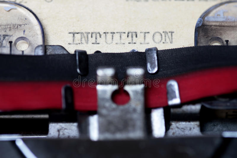 intuition stockbild