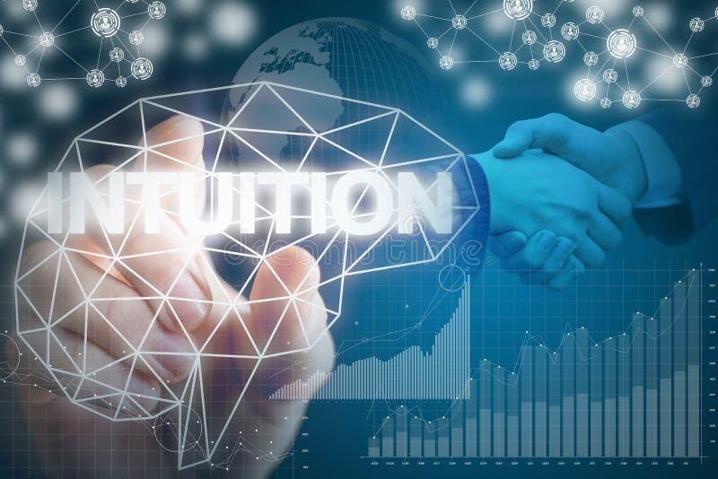 Intuition während der einträglichen Geschäfte im Geschäft lizenzfreie stockbilder
