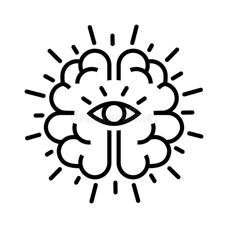 Intuitionsymbol, vektorillustration stock illustrationer