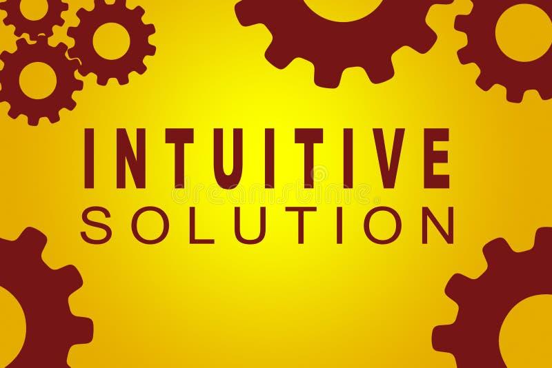 Intuitives Lösungskonzept stock abbildung