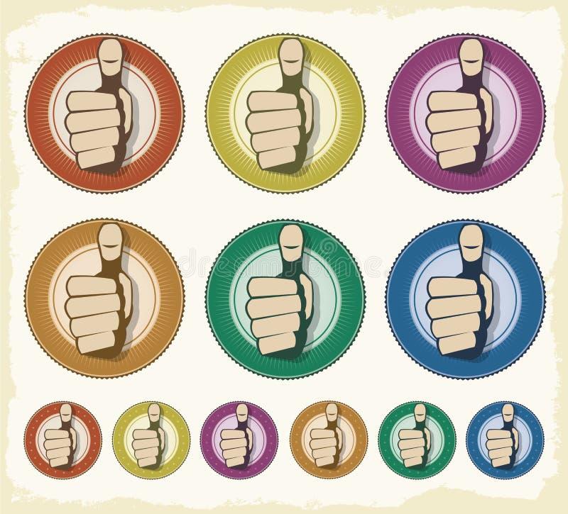 Intygat kvalitets- förseglar logo royaltyfri illustrationer