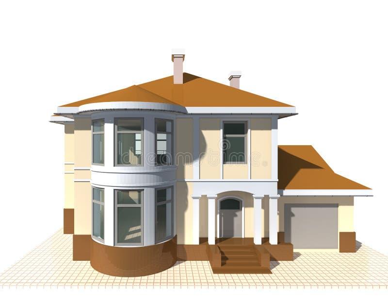 Intymna chałupa, budynku mieszkalnego 3v ilustracja na białym tle obraz royalty free