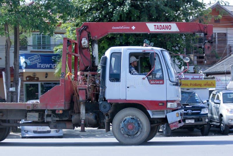 Intymna ciężarówka z żurawiem zdjęcie stock