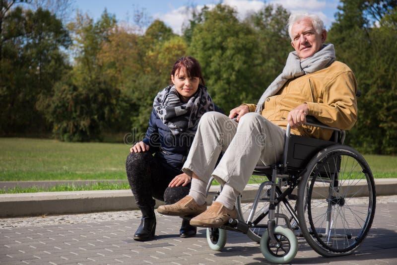 Intymna pielęgniarka i jej pacjent fotografia royalty free