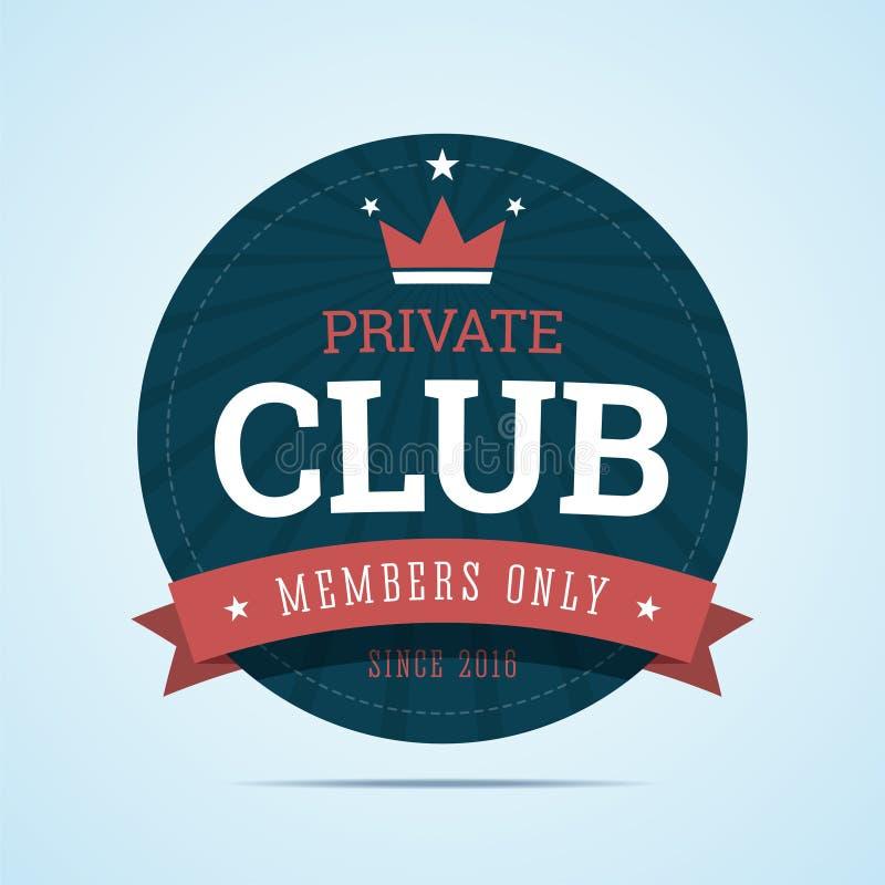 Intymnego klubu odznaka ilustracji