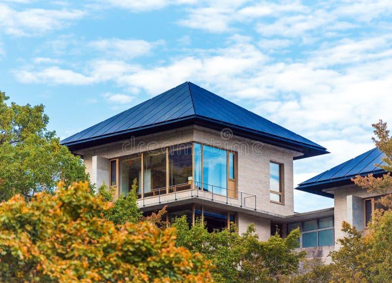 Intymny budynek w górach, Hakone, Japonia Odbitkowa przestrzeń dla teksta zdjęcie royalty free