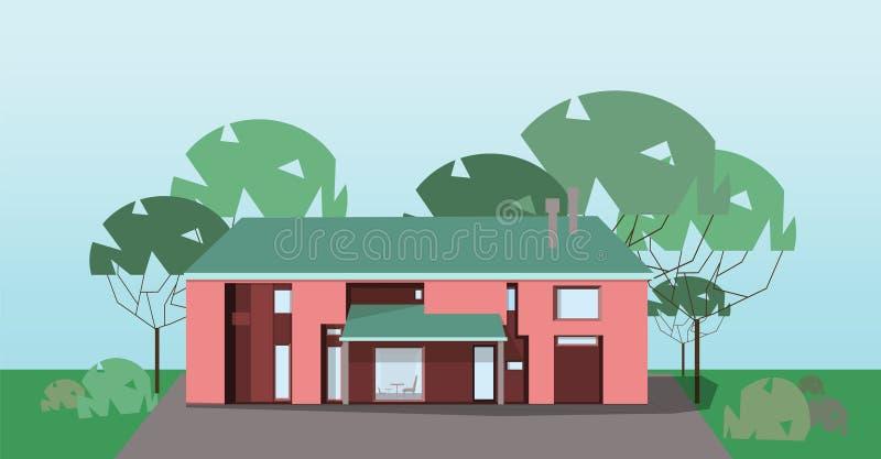 Intymny dom, wektor ilustracja wektor