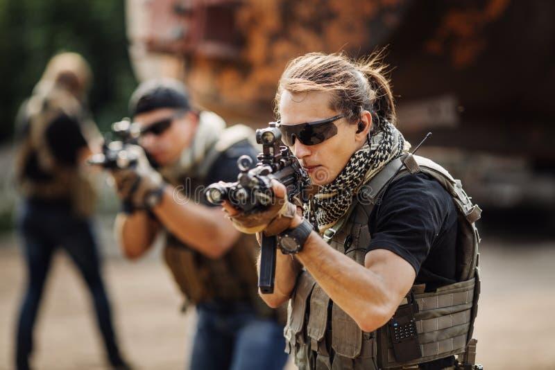 Intymny Militarny kontrahent podczas specjalnej operaci zdjęcia royalty free