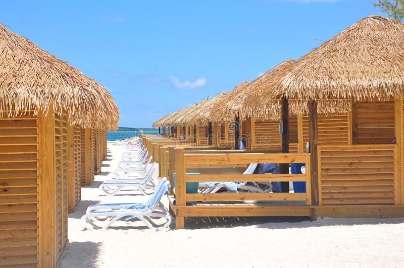 Intymny plażowy cabana obrazy stock