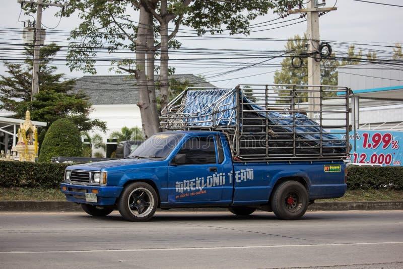 Intymny Stary Pickup samochód, Mitsubishi cyklon zdjęcia royalty free